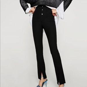 Zara high waist snap front leggings